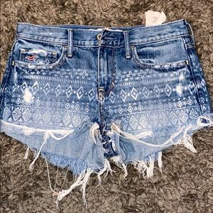 Hollister jeans shorts size 3